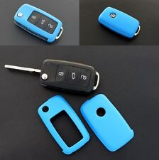 VW Car Remote Flip Key Cover Case Skin Shell Cap Fob Protection ABS BLUE 2010-