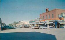 Autos Baxtone Clayton New Mexico 1950s Main Street postcard 6666