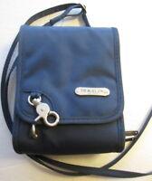 Travelon Small Crossbody Travel Bag Blue microfiber 6X2X4