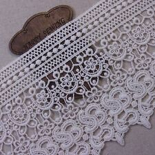"Antique Style  Embroidery Cotton Crochet Lace Trim 5.1""(13cm) Wide 1Yd"