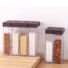 Spice Jar Box Plastic Seasoning Lid Jar Sugar Layer Storage Box Kitchen Tools