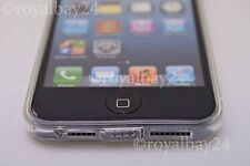 iPhone SE 5 5s Silikon transparent Staubschutz hülle crystal case Schutzhülle
