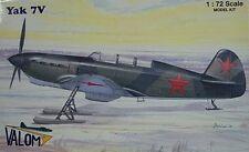 Valom 1/72 Yakovlev Yak-7V Ski Plane Soviet Model Kit 72019 New