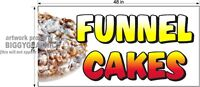 2' X 4' VINYL BANNER FUNNEL CAKES NEW COLORFUL TEXT
