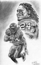 Seattle Seahawks Marshawn Lynch sketch art drawing picture