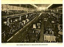 Publicité ancienne les usines Renault Boulogne-Billancourt Cl.Renault