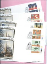 1996 BENHAM BLCS122 Set of 5 FDC's - CHRISTMAS T/Light Pairs  NORWICH CATHEDRAL