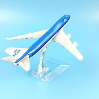 Am_ 1:400 16cm Diecast Air KLM Plane 747 Aircraft Airplane Model Gift Desktop De