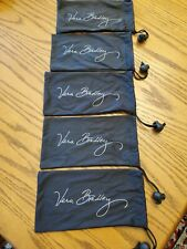 5 NWOT Vera Bradley Microfiber Bags...could Be Used For Glasses Or Other Things