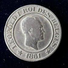 BELGIQUE 20 Centimes Léopold Ier 1861 FR