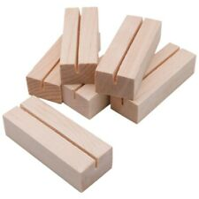 20 Pieces Wood Place Card Holders, Wooden Table Number Holder Memo Stand Clamps