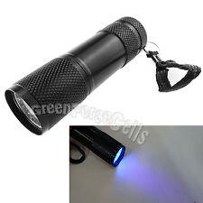 10X 9 LED UV Light Ultra Violet Blacklight Flashlight Detect Checker Torch Light