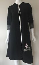 Homewear black dress with embroidery  size S