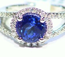 3.85Ct 14K Gold Natural White Diamond Tanzanite Vintage Aaaa Engagement Ring