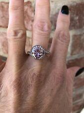 2.75 carat Pink Moissanite ring size 7
