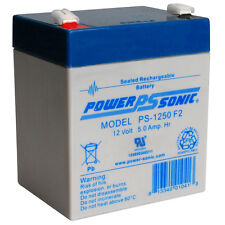 Power-Sonic PS-1250F2 12V 5AH Battery for Black & Decker Storm Station