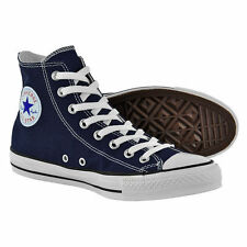 NEW Converse All Star Hi Top Unisex Trainers Mens Women Canvas Shoes (blue/white