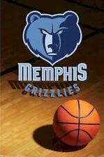 MEMPHIS GRIZZLIES ~ COURT LOGO 22x34 POSTER NBA National Basketball NEW/ROLLED!