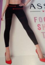 Spanx Assets Footless Shaping Tights Built In Shaper Short Very Black Size 3