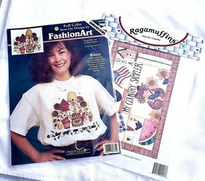 Lot of 2 Dimensions Fashion Art and Ragamuffins Iron-On Transfers