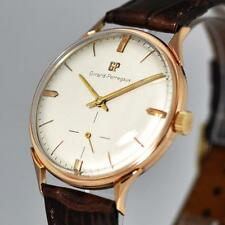 GORGEOUS GIRARD PERREGAUX MANUAL WIND 18K SOLID ROSE GOLD VINTAGE GENTS WATCH