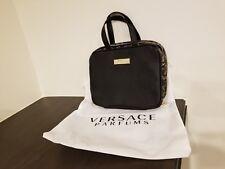 VERSACE BAG BLACK GOLD TRAIN CASE BRUSH MAKEUP COSMETIC BAG NEW