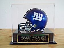 Football Mini Helmet Case With A Baltimore Ravens Super Bowl 47 Nameplate