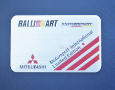 Car Side Emblem Rear Badge Fender Sticker Decal RALLIART Logo For Mitsubishi