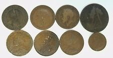 * LOT OF 8 VARIOUS FOREIGN COINS FROM YEAR 1900 - 1920