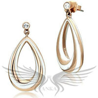 Beautiful Epoxy Colored Gold Plated Crystal Accented Earrings GL352