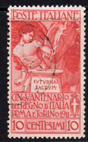 Italy 10 Cent Stamp c1911 Fine Used (645)