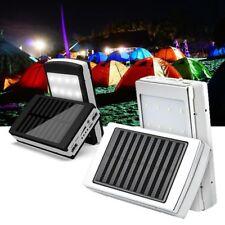 Panel Solar Dual USB Power Bank Portátil Cargador Batería Externa Con Luz Led