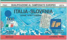 68529 -  BIGLIETTO PARTITA CALCIO 1995: ITALY /  SLOVENIA  Campionato Europeo