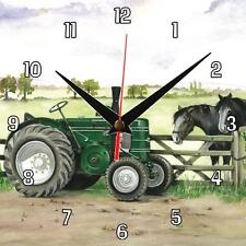 No.17 Field Marshall tractor Sue Podbery Wall clock, great handmade gift present