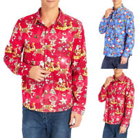 Christmas Hawaiian Shirt Men's Santa Loud Hawaii Surf Party Printed T-shirt Tops