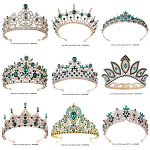 55 Styles Green Crystal Queen Princess Tiara Crown Wedding Prom Party Pageant