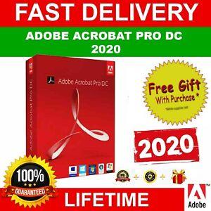 Adobe®Acrobat Pro DC 2020**(Window$)** Official Original Lifetime Pre-activated