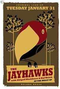 The Jayhawaks Gig Poster, Solana Beach 2012 (Original Lithograph) 13 x 19' Print