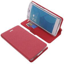 Funda para Doogee X5 MAX / X5 Pro Book Style Protectora de móvil ROJO