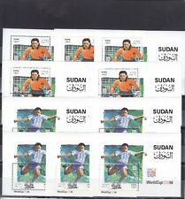 stamps SUDAN 1995 SC-479 480 Football World Cup SOCCER USA 1994 LOT X5 SETS MNH