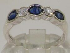 Band Sapphire White Gold Fine Rings