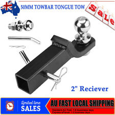 "2"" Receiver Adjustable Towbar Towing Bar Ball Mount Tongue Hitch For Trailer 4WD"