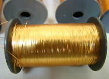 GENUINE JAPANESE VINTAGE HONKIN GOLD THREAD FLAT TYPE EMBROIDERY COUCHING THREAD