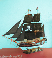 "30"" Custom Weathered Pirate Ship Sailing Vessel Wooden Boat Model Some Assembly"