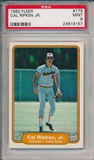Cal Ripken Jr Orioles HOF 1982 Fleer #176 Rookie Baseball Card rC PSA 9 Mint QTY
