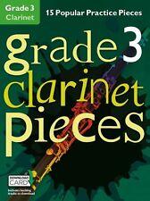 Grado 3 Clarinetto Pezzi Impara a giocare POP grafico MUSICA Exam BOOK & Download Card