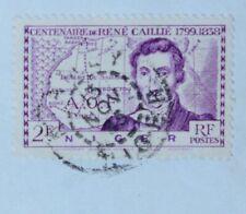 NIGER NIAMEY LETTRE 1945 ZINDER AOF AFRIQUE COLONIE FRANCAISE COVER TIMBRE SEUL