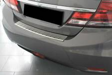 Rear Bumper Protector Stainless Steel Scuff Plate fit Honda Civic 4D IX 2012-