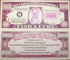 20 Pink Breast Cancer Awareness Cure Ribbon - Million Dollar Money Bill Set