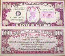 (20) Pink Breast Cancer Awareness Cure Ribbon - Million Dollar Money Bill Set